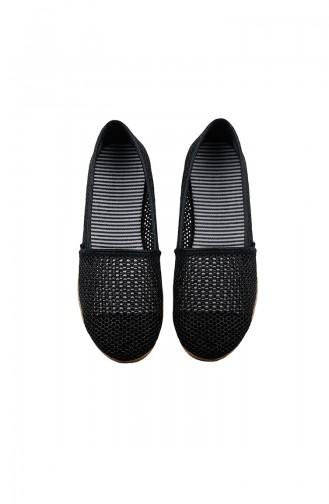 Women´s Mesh Flat Shoes 0129-01 Black 0129-01
