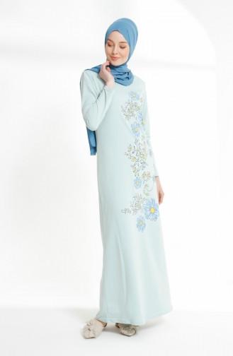 Green İslamitische Jurk 5041-09
