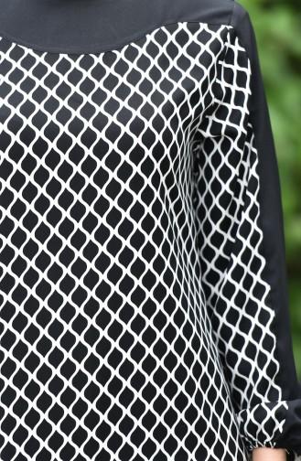 Minahill Printed Dress 10134-01 Black 10134-01