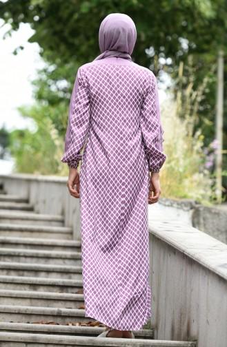 Lila Hijap Kleider 10134-03