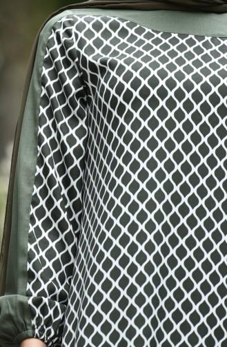 Grün Hijap Kleider 10134-05