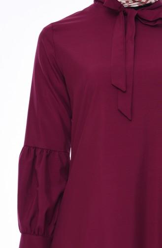 Tie Collar Tunic 3042-07 Purple 3042-07