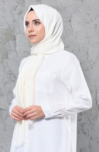 Simli Cotton Şal 4335-06 Krem