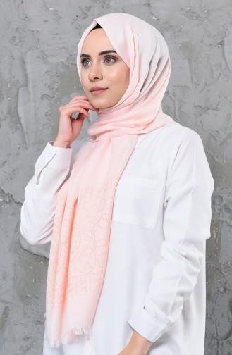 Simli Cotton Şal 4335-07 Somon 4335-07