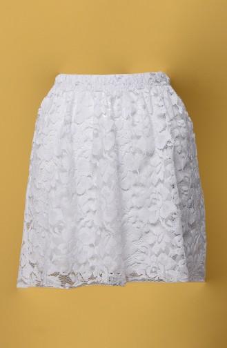Jupe Blanc 117-02