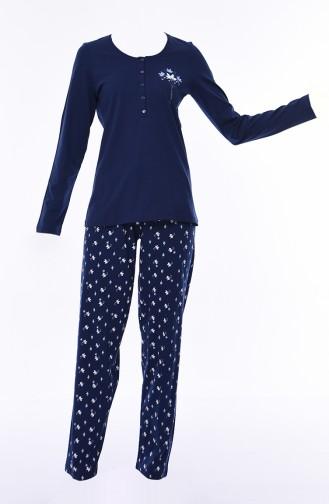 Women´s Long Sleeve Pajama 803044-01 Navy 803044-01