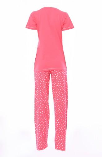 Women´s Short Sleeve Pajama 811352-02 Coral 811352-02