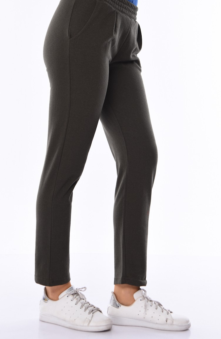 2f201f36260a81 Pocket Sweatpants 1003-03 Khaki Green 1003-03