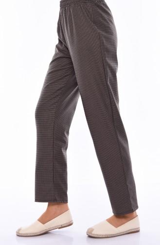 Elastic Waist Straight Leg Pants 2082F-01 Maroon 2082F-01