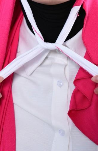 Practical Cotton Shawl  CPS0050-10 Fuchsia 0050-10