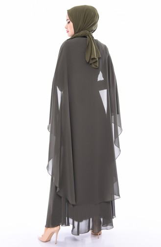 Lace Evening Dress 1603-01 Khaki 1603-01