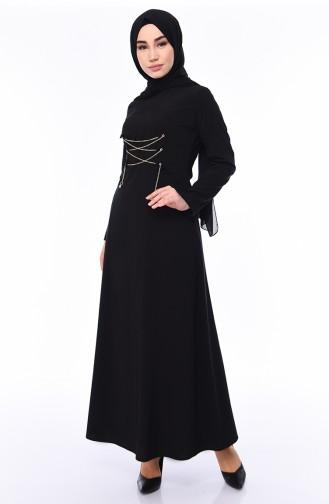 Black Hijab Dress 1198-01