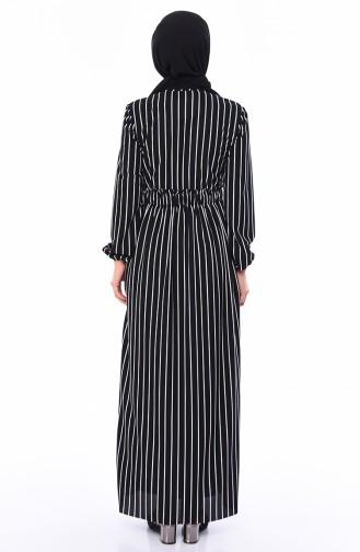 Striped Dress 1039-02 Black 1039-02