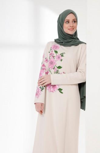 970401c92b76f Sefamerve, Ecru Robe Hijab