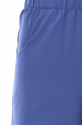 Pocket Straight Leg Pants  1013-09 Indigo 1013-09