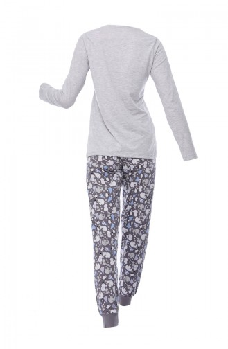 Women´s Long Sleeve Pajama 802219-01 Gray 802219-01