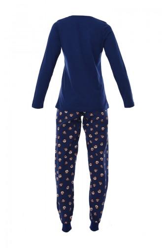 Women´s Long Sleeve Pajama 803062-01 Navy 803062-01