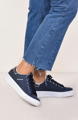 Damen Sport Schuhe 0778-10 Dunkelblau Platin 0778-10