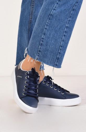 Chaussure Sport Pour Femme 0778-10 Bleu Marine Platine 0778-10