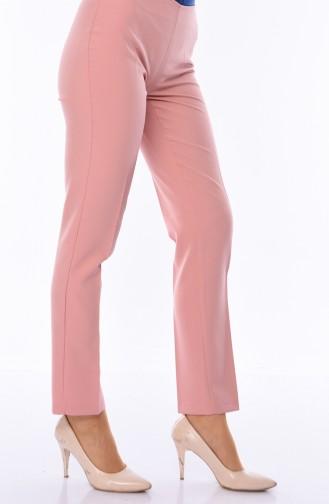 Side Zipper Lycra Trousers 9042-08 Powder 9042-08