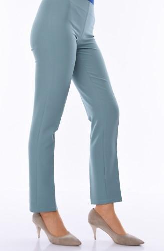 Yandan Fermuarlı Likralı Pantolon 9010-11 Yeşil