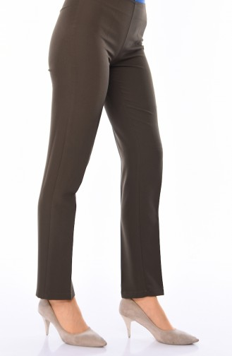 Hose aus Lycra mit Reissverschluss 9042-13 Khaki 9042-13