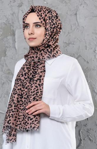 Akel Patterned Cotton Shawl 001-419-03 Light Powder 001-419-03