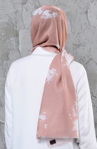 اكل شال قطن بتصميم مُطبع 001-422-06 لون وردي فاتح 001-422-06