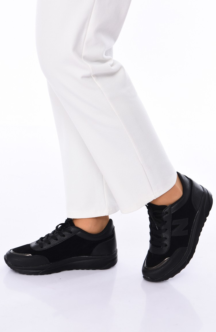 clearance prices enjoy big discount crazy price ALLFORCE Sneakers Women´s Shoes 0756 Black Suede 0756