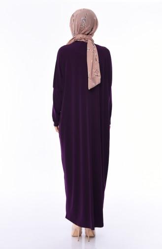 Sandy Yarasa Kol Elbise 8813-05 Mor