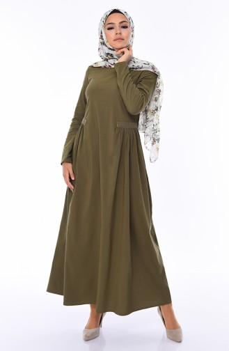 Taşlı Elbise 1196-06 Haki 1196-06