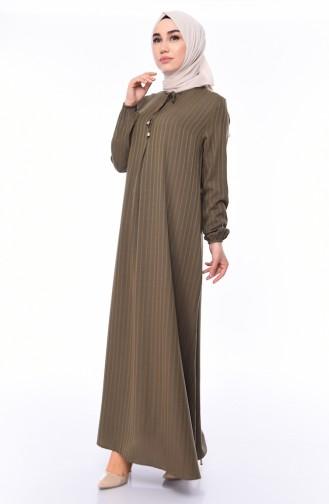 Viskose Kleid 0552-01 Khaki 0552-01