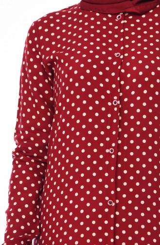 تونيك أحمر كلاريت 0630-03
