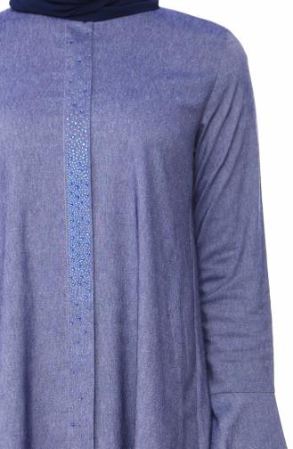 Taşlı Tunik 1199-01 Kot Mavi 1199-01