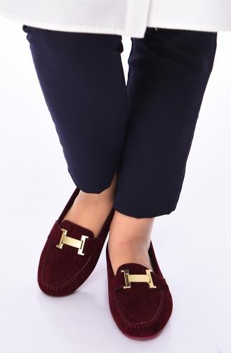 Claret red Woman Flat Shoe 2021-14