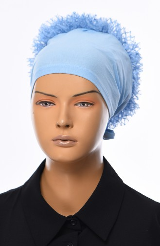 Lace Frilly Bonnet 901392-19 Baby Blue 901392-19