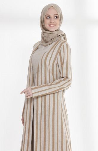 Oyya Inner Dress Linen Suit 9006-04 Camel 9006-04