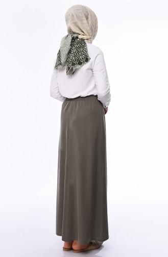 Elastic Waist Skirt 1126A-05 Khaki 1126A-05