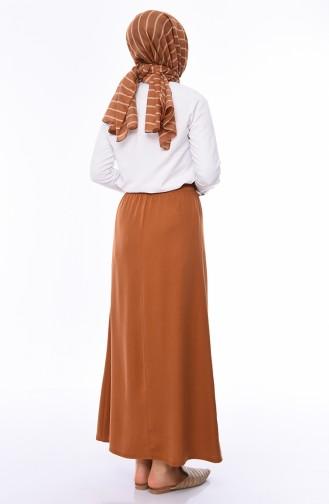 Waist Elastic Skirt 1126A-06 Tobacco 1126A-06