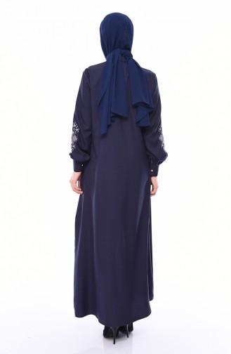 Navy Blue Abaya 10124-02
