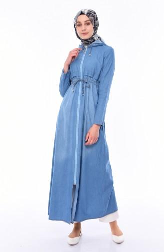 Jeansblau Abayas 0008-01