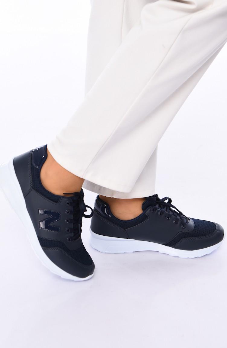 0776 Chaussures Marine Femme Bleu Sport Pour CdBoxeWr