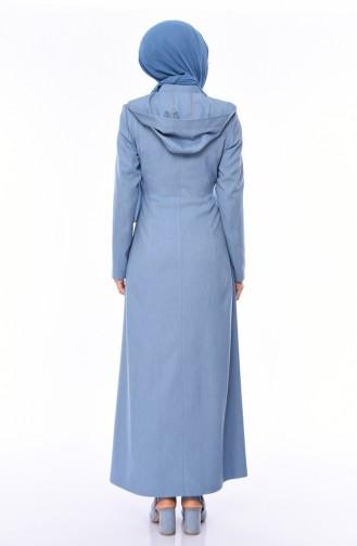 Abaya mit Reissverschluss 1100P-01 Blau 1100P-01