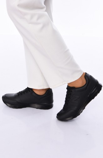 ALLFORCE Sneakers Women´s Shoes 0777 Black Leather 0777