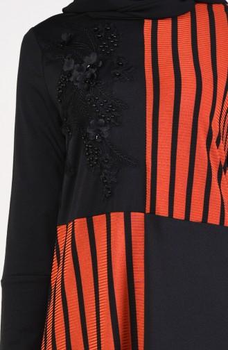 Striped Tunic Pants Binary Suit 1917-02 Black Tile 1917-02