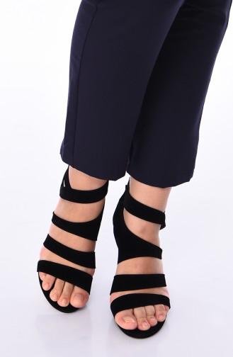 أحذية الكعب العالي أسود 1501K-01