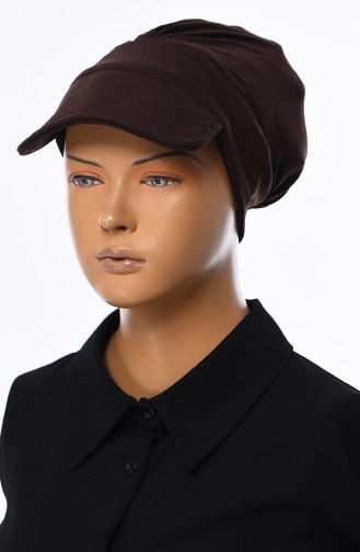 Cotton Cap Bonnet B0030-5 Brown 0030-5