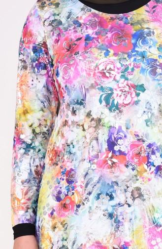 Fuchsia Hijab Dress 4551A-02