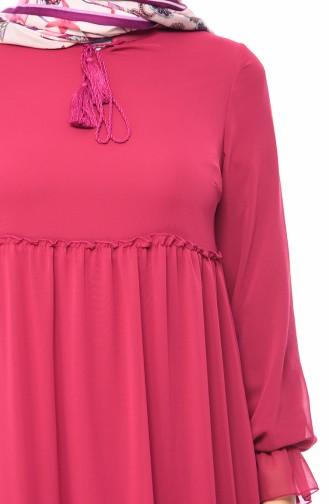 Chiffon Dress 18057-11 Fuchsia 18057-11