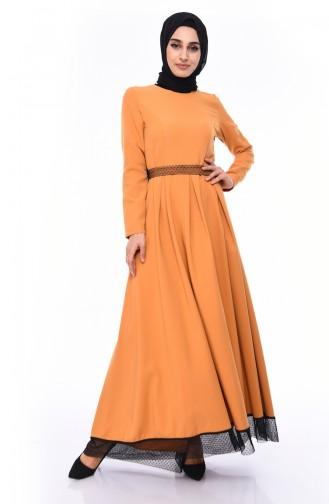 Kleid mit Band  8178-03 Tabak 8178-03